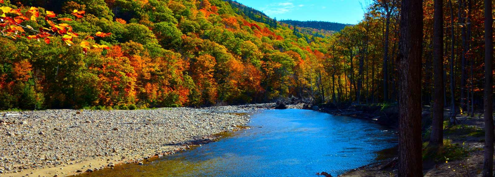Riverbed view at Crawford Notch General Store & Campground