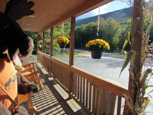 Crawford Notch Campground General Store porch